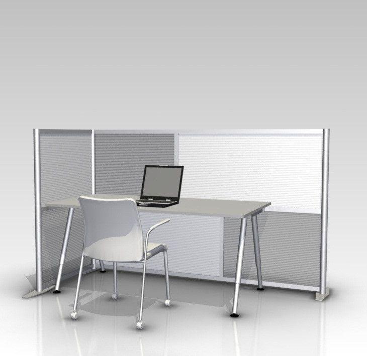 84 L X 35 W X 51 H Office Partition White