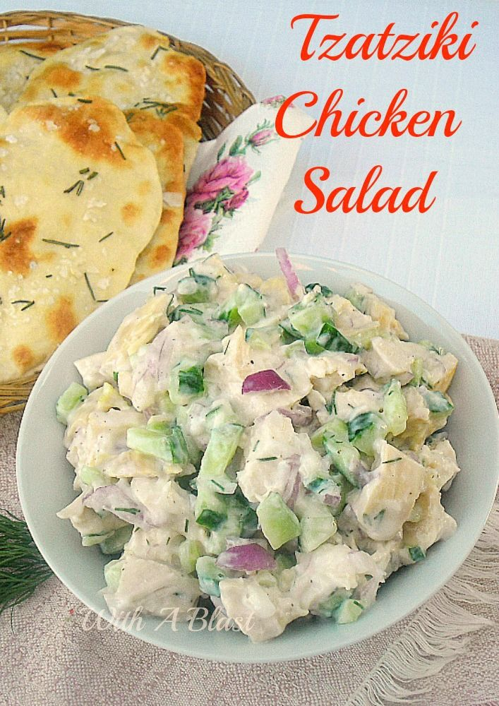 Tzatziki Chicken Salad ~ Alltime favorite low-fat Chicken Salad made quickly and easily