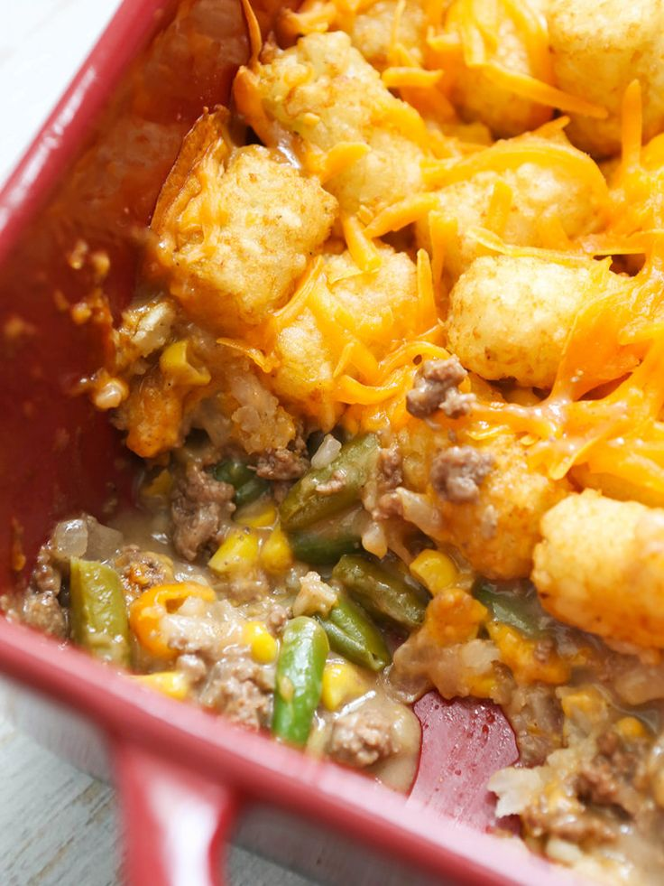 Are you ready for the Super Bowl? What are your plans? As always, we are making WAY too much food for just a few people. I have smokies and brownies to finish, but in the meantime let's talk about ugly food. There could not be an uglier food than Tater Tot Hotdish. Or, Tater Tot Casserole, if that's more up your alley. Here in Minnesota we go with Hotdish.