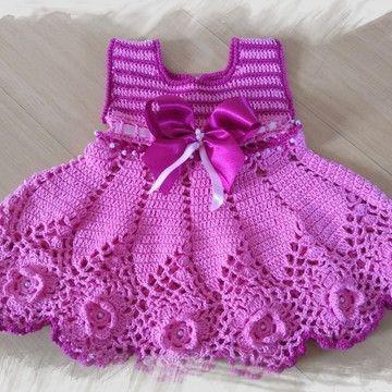 vestidos de crochê bebê   – Artesanato e Faça você mesmo