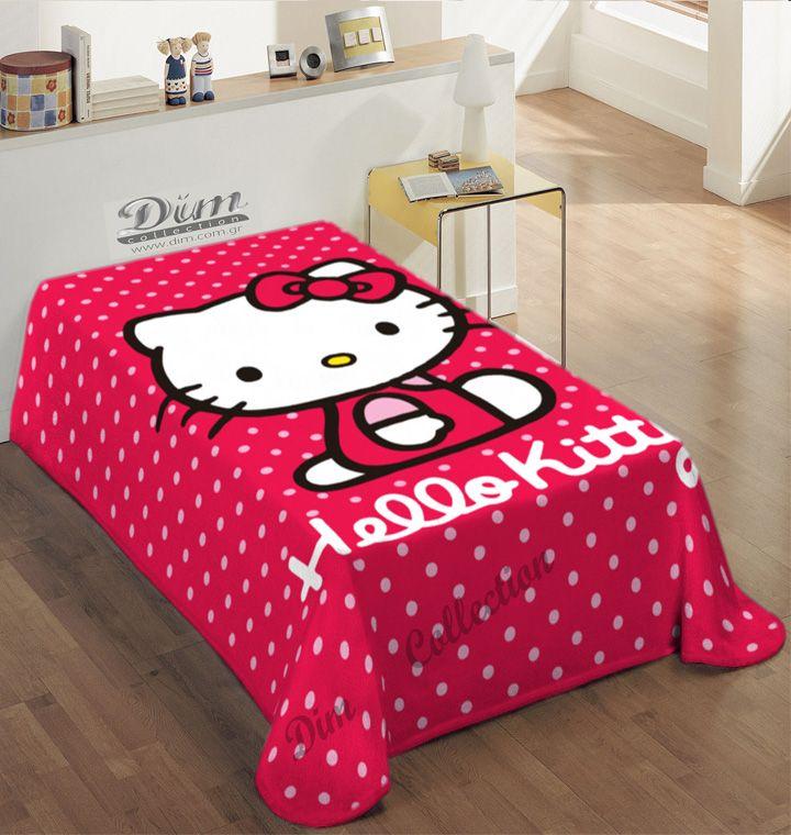 Κουβέρτα Παιδική Βελουτέ Hello Kitty Disney
