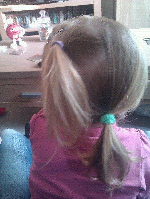 Twee staartjes schuin kinder haar / child hair creations