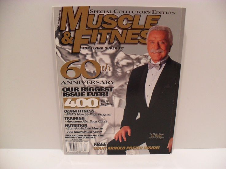 "Item specifics   Seller Notes: ""NEVER OPENED – BRAND NEW – EXCELLENT CONDITION – NO LABEL""      									 			Sport:   												Body Building  									 			Featured Refinements:   												Muscle & Fitness Magazine    									 			Month:  ... - #Fitness https://lastreviews.net/sports-fitness/fitness/joe-weider-muscle-fitness-magazine-60th-anniversary-collectors-edition-magazine/"