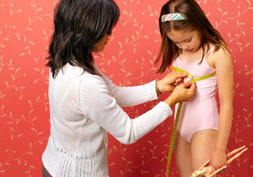 Breast development of a teenage girl