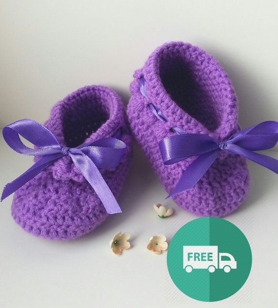 Booties Violetta. Knitted booties. Crochet. For by ninapolansky