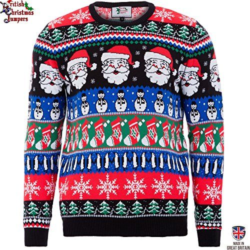 Christmas Sparkle  Mens Christmas Sweater by British Christmas Jumpers Large ** Visit the image link more details.