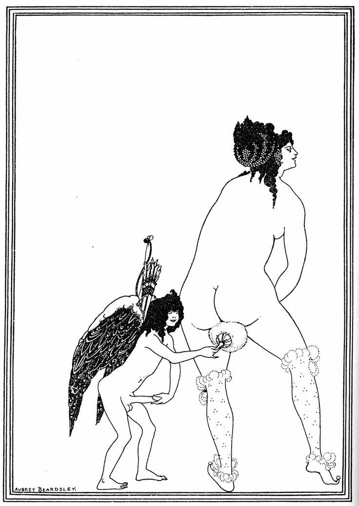 Lysistrata, plate 2 - The Toilet of Lampito (1896).  Aubrey Beardsley.