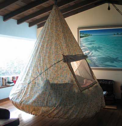 Floating Tent Bed for safe, secure and fun child's room.