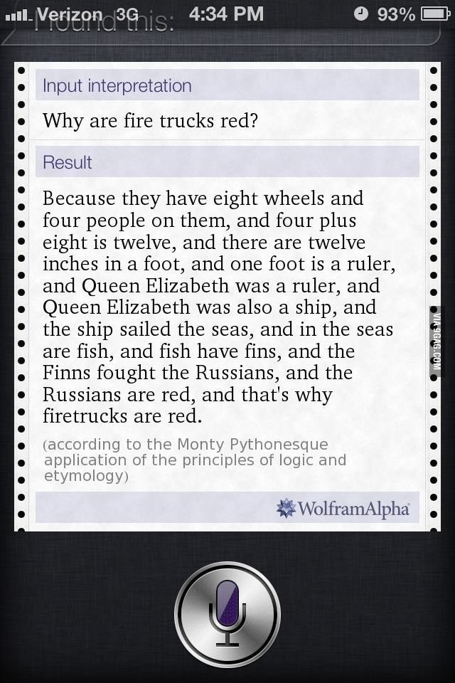 Why are fire trucks red?