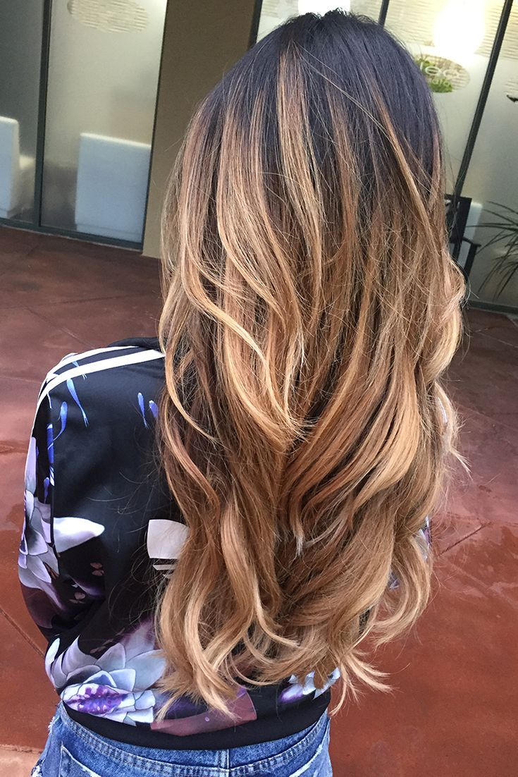 Loving this Dark Brown and Dirty Blonde colour combo! Enhance your balayage and add dimension to your hair with Ombre Blonde Luxy Hair Extensions. Photo: @nichussey