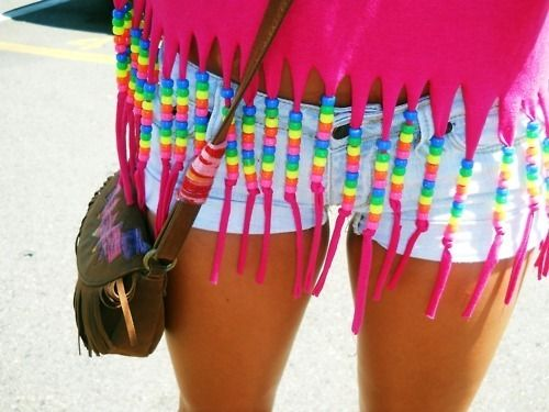 I want to make a shirt like this!: Summer Shirts, Style, Cute Ideas, Beads, Diy Shirts, T Shirts, Fringes, Crafts, Covers Up