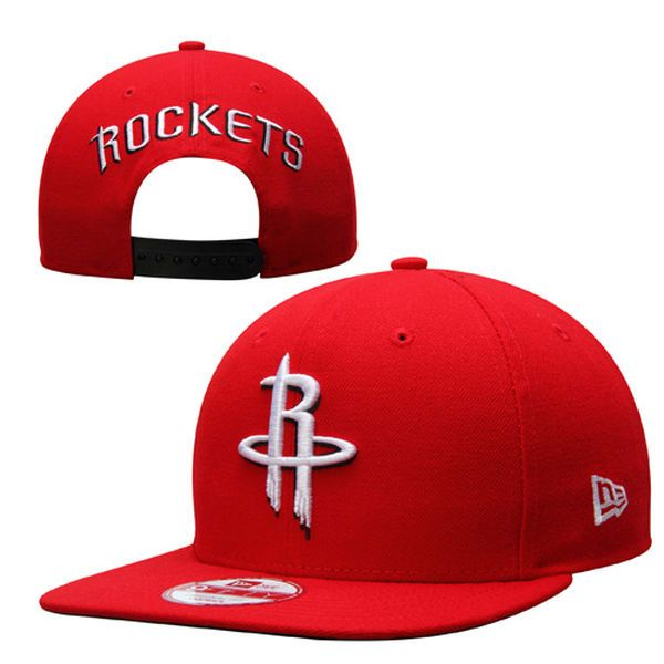 3ad8394122df Mens Houston Rockets New Era Red Practice Snap Original Fit 9FIFTY Adjustable  Hat