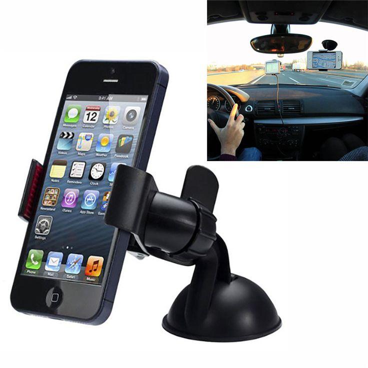 2016 New Universal Car Phone Holder Windshield Dash Board 360 Degree Suction Mount Bracket Stand for Phone GPS Tablet PC *** Posetite ssylku izobrazheniya boleye podrobnuyu informatsiyu.