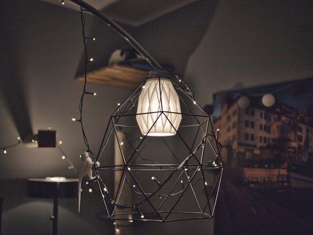 Lampshade Lampenschirm Home Art 3d Printed Design Design Lamp Socket Home Art