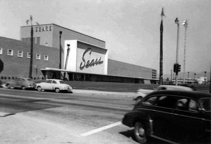 SEARS | NORTH HOLLYWOOD:  (1950) - View showing the yet to be completed Sears, Roebuck & Co. located at 12121 Victory Boulevard at the new Valley Plaza Shopping Center.  The store opened in 1951.