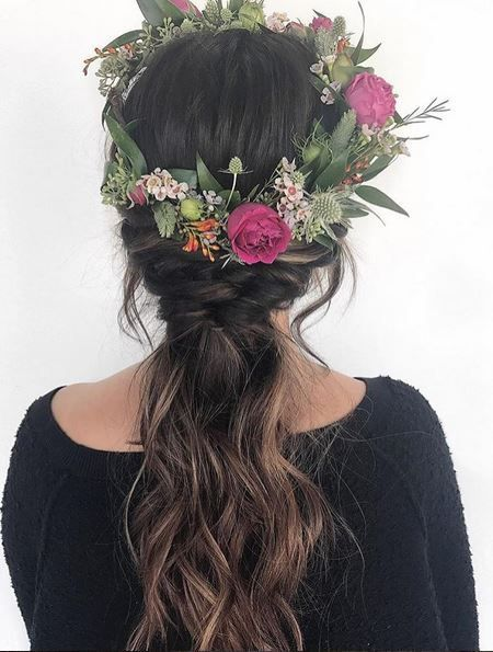 flower crown updo