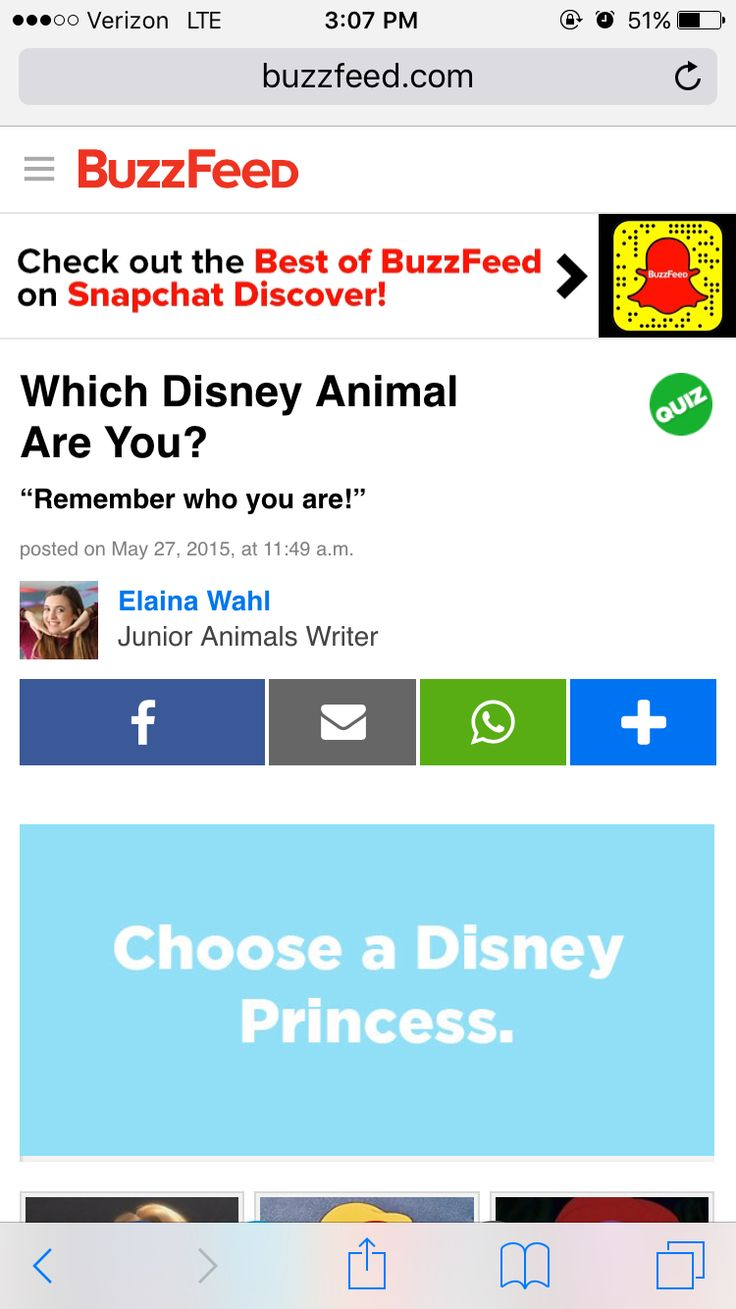 Are you http www buzzfeed com elainawahl which disney animal
