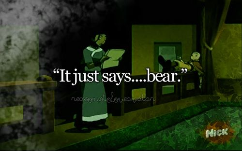 WhAt? There is no just anything in Avatar. Animals are all ways mixed with somthing els. One of the many many reasons why I love Avatar the Last Air Bender. (I love the king and his bear)
