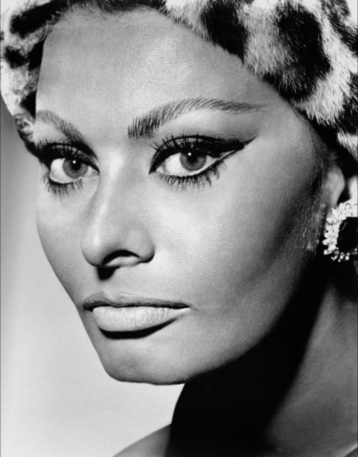 Sophia Loren..a little crazy but I love the technique for her eye makeup. Really makes her eyes look bigger and more feline.
