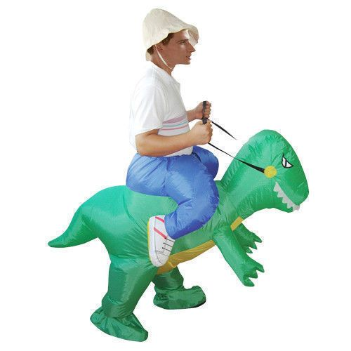 NEW-Adult-Inflatable-Dinosaur-Party-Costume-horse-Motor-Fancy-Dress-unisex