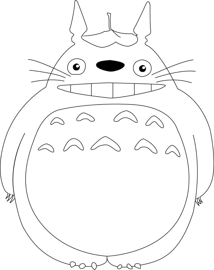 totoro outline - Google Search
