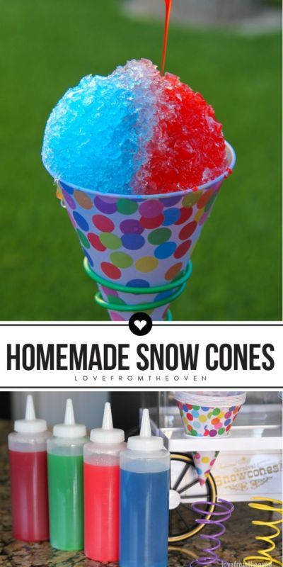 How To Make Snow Cones At Home. Great for summer parties!