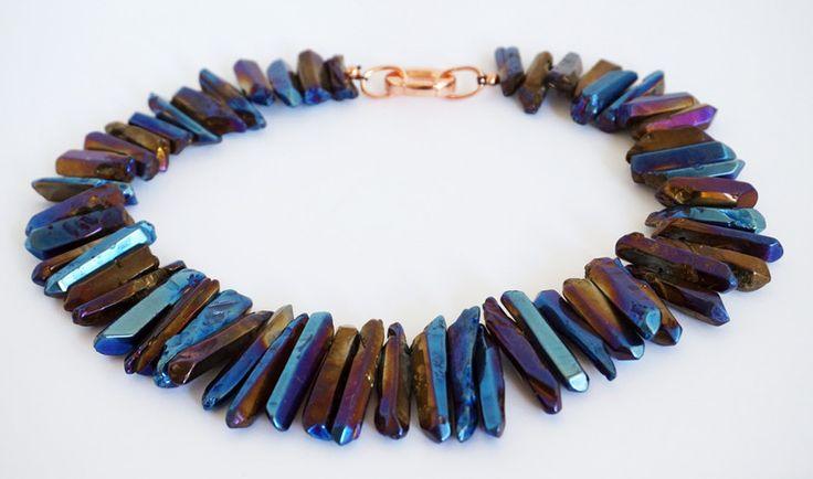Kristall - Collier aus Kristallsticks - ein Designerstück von tizianat bei DaWanda