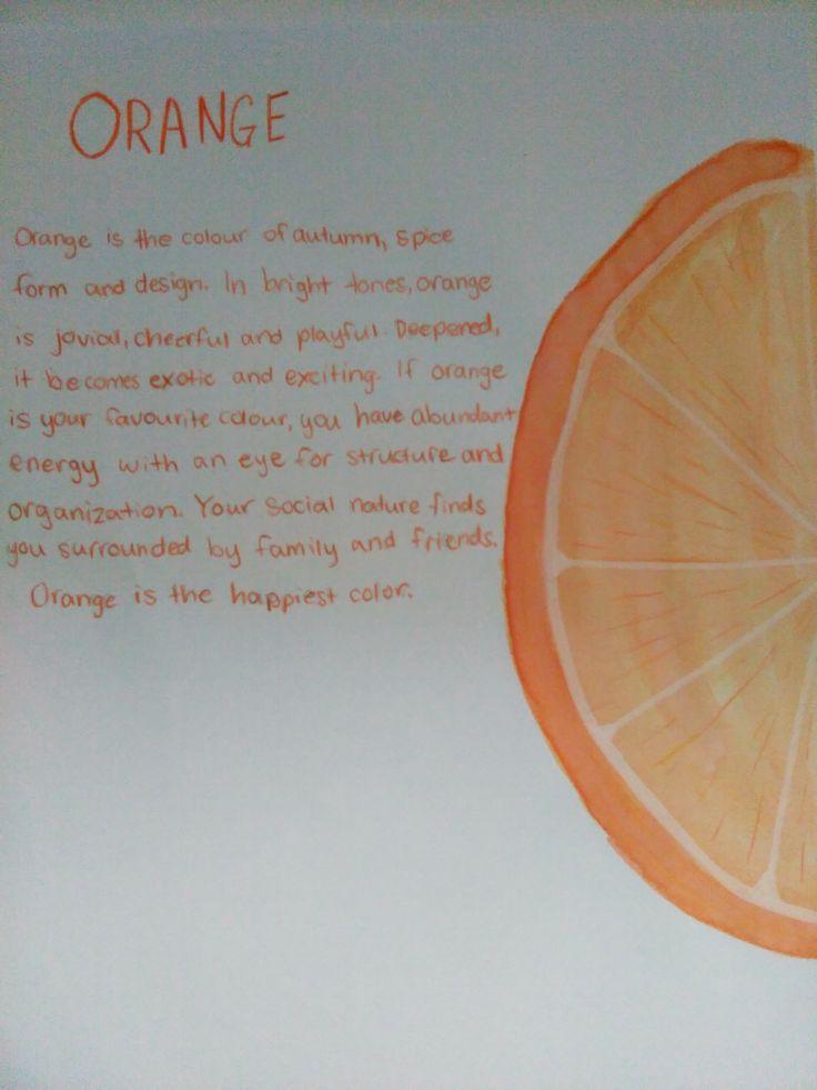 30 day drawing challenge.  Something orange