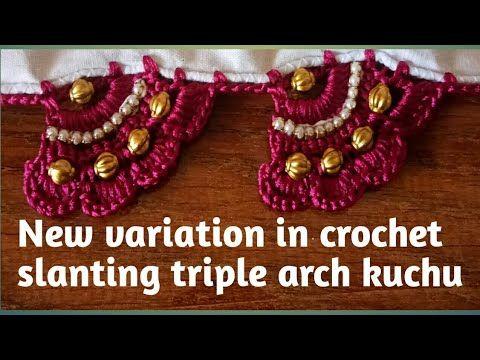 New variation in crochet slanting triple arch