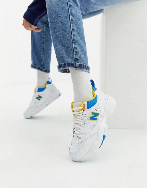 basket femme new balance jaune