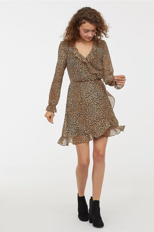 861c12f7c5be Wrap Dress in 2019 | Dress and Gown | Dresses, Wrap dress, Brown leopard