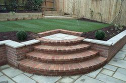 Curved Brick Steps