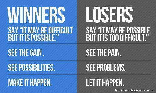 Winners Vs Losers #Mindset