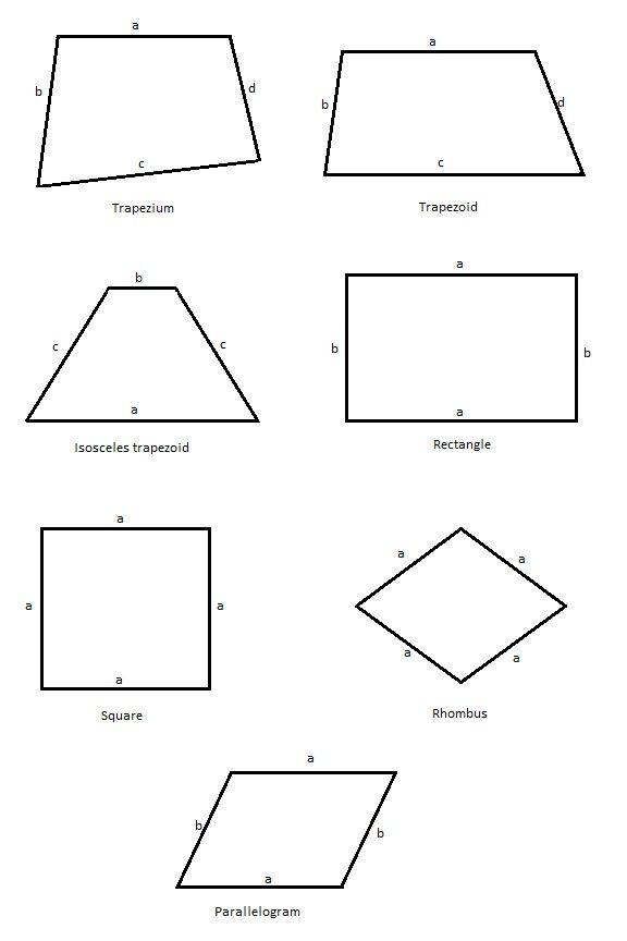 Convex Quadrilaterals Geometry Worksheets Free Math