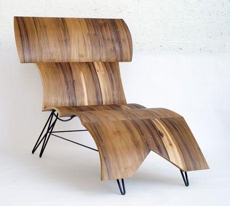 Moderne Liege / Holz / für Innenbereich / Wohnbereich BI BENCH Aswoon/Susan Woods Studio