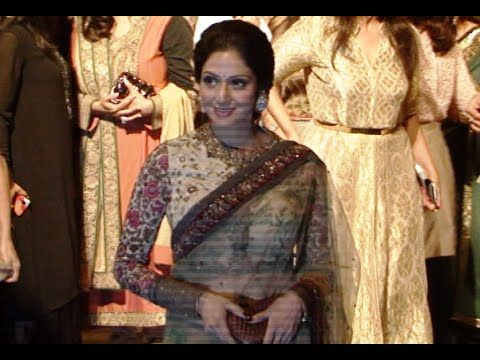 Sridevi looks beautiful in saree at Lakme Fashion Week 2015 Day 1.