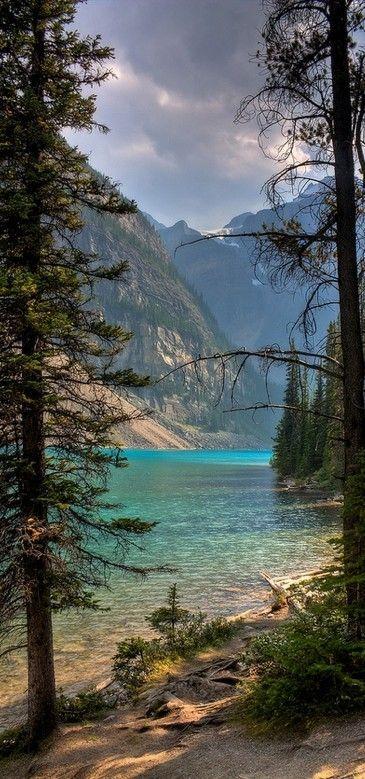 Moraine Lake in Banff National Park ~ Alberta, Canada
