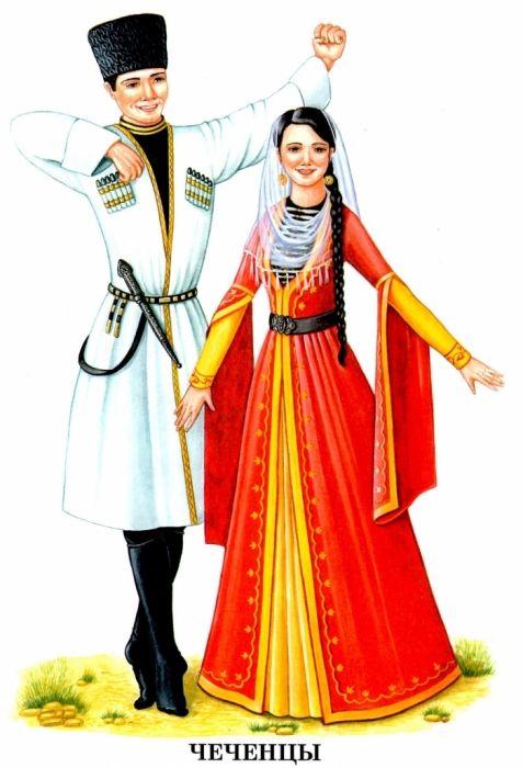 Картинки национальные костюмы народов России Карточки и