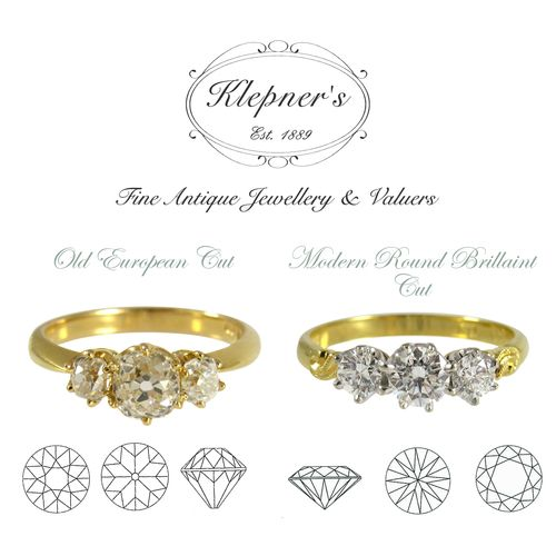 NOSTALGIA VS PROGRESS: A CLOSER LOOK AT DIAMONDS PAST & PRESENT Much has been written about the make or cut of diamonds. These articles generally refer to the characteristics of what is known as the Modern Round Brilliant Cut, as opposed to antique cuts such as the Old European or Old Mine Cut. Visit us at www.klepners.com.au
