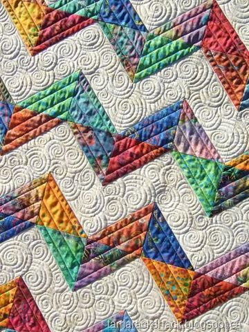 chevron - Drooling over the custom quilting on this!!  Love. A lot!