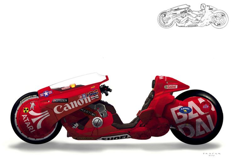 Akira | concept art for Kaneda's bike - my love for this bike is waaaaaaay too high!! <3