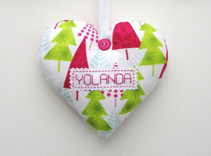 Large PERSONALISED Christmas Heart