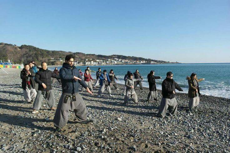 Beach training - Sunmudo students