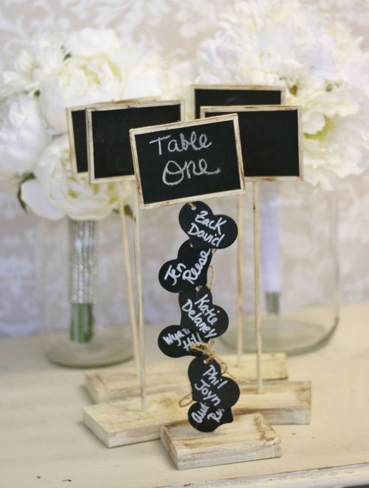 Rustic Wedding Seating Chart Table Numbers and