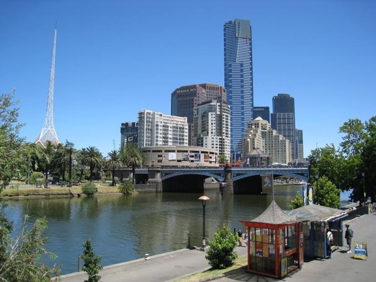 Yarra and Princes Bridge, Melbourne, Australia