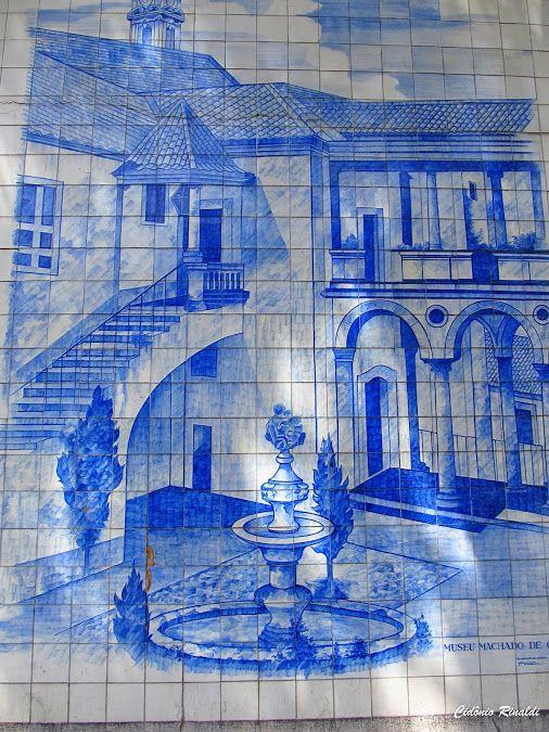 Painel representando o Museu Machado de Castro em Coimbra