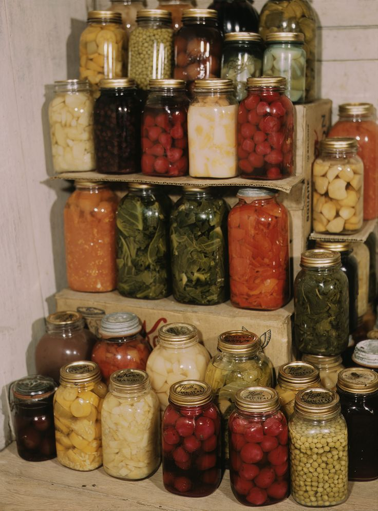 Display of home-canned food