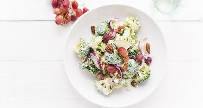 Broccolisalade uit mijn kookboek - Uit Pauline's Keuken
