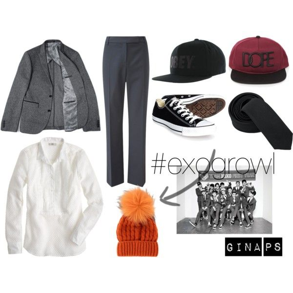 """EXO Growl~!"" by ginapraniti on Polyvore"