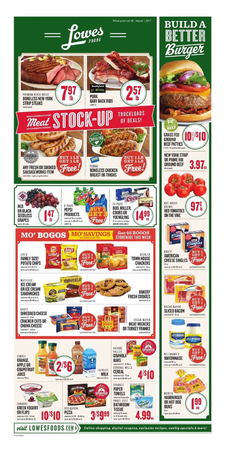 Lowes Weekly Ad July 26 - August 1, 2017 - http://www.olcatalog.com/grocery/lowes-weekly-ad-circular.html